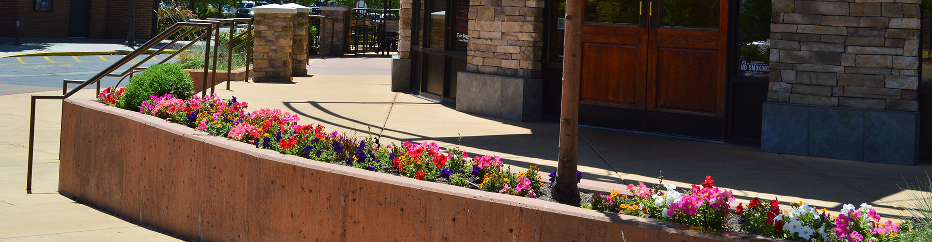 A commercial property in Draper where we recently installed landscaping.